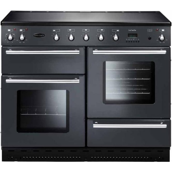 Rangemaster TOLS110ECGY Toledo 110 Electric Range Cooker with Ceramic Hob, Gun Metal Grey