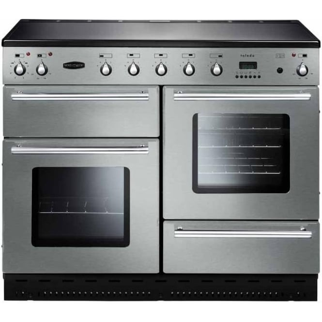 Rangemaster TOLS110EISS Toledo 110 Electric Range Cooker with Induction Hob, Stainless Steel