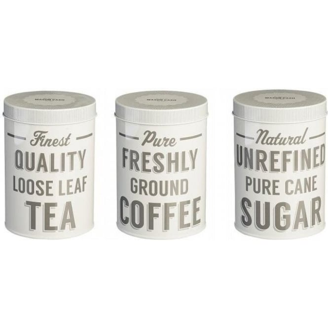 Mason Cash Baker Street Tea/Coffee/Sugar Tins