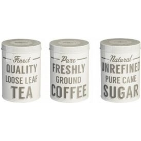 Baker Street Tea/Coffee/Sugar Tins