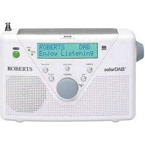 Solar DAB Radio White