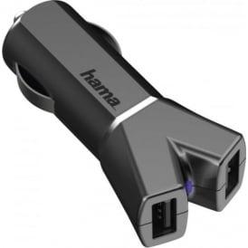 """Colour Line"" 12V Car Charger 2x USB, 3.4 A"