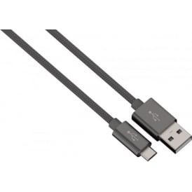 """Colour Line"" Charging/Sync Cable, micro USB, Aluminium, 1m"