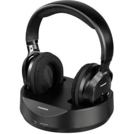 WHP3001BK Wireless Headphones for TVs & MP3 Players, Black