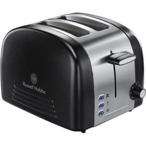18046 Ebony 2 Slice Toaster, Matt Black