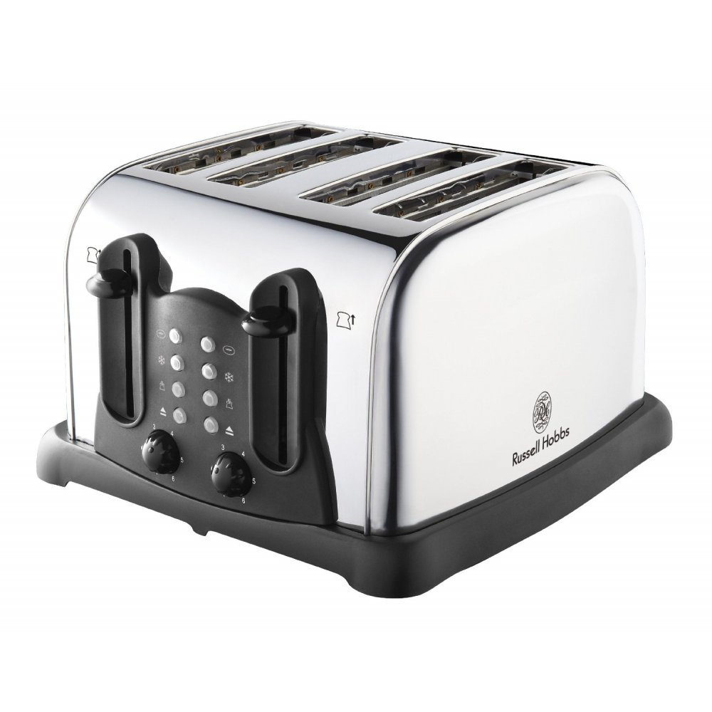 russell hobbs 18099 4 slice polished stainless steel toaster russell hobbs from uk. Black Bedroom Furniture Sets. Home Design Ideas