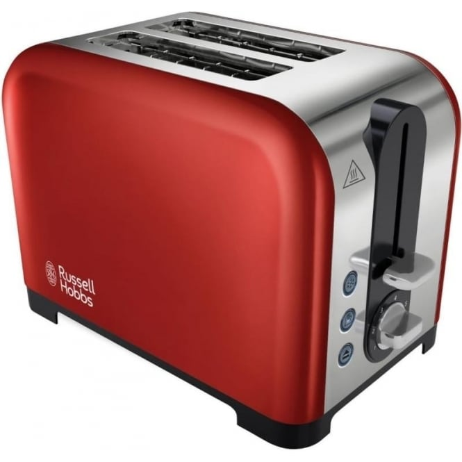 Russell Hobbs 22391 Canterbury 2 Slice Toaster, Red