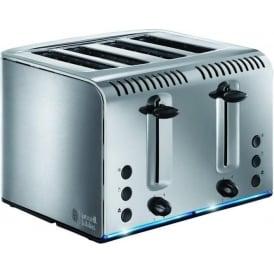 Buckingham 4 Slice Toaster, Brushed Steel