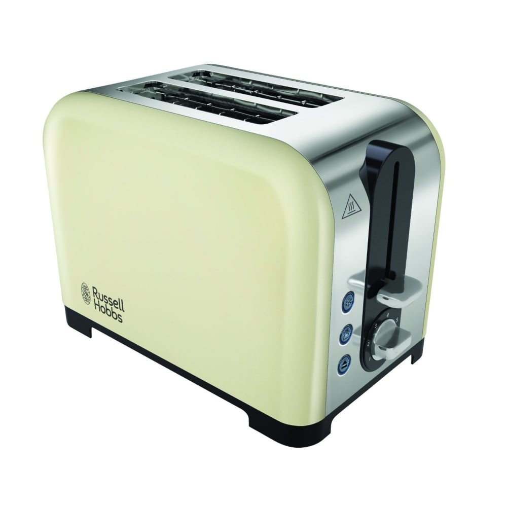 russell hobbs canterbury 2 slice toaster cream home appliances from uk. Black Bedroom Furniture Sets. Home Design Ideas