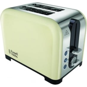 Canterbury 2 Slice Toaster, Cream