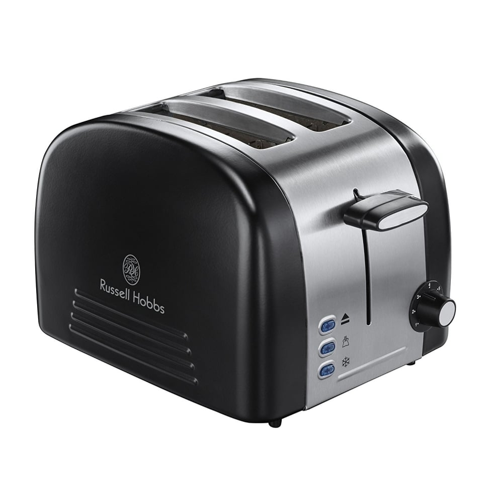 russell hobbs ebony 2 slice toaster black home appliances from uk. Black Bedroom Furniture Sets. Home Design Ideas