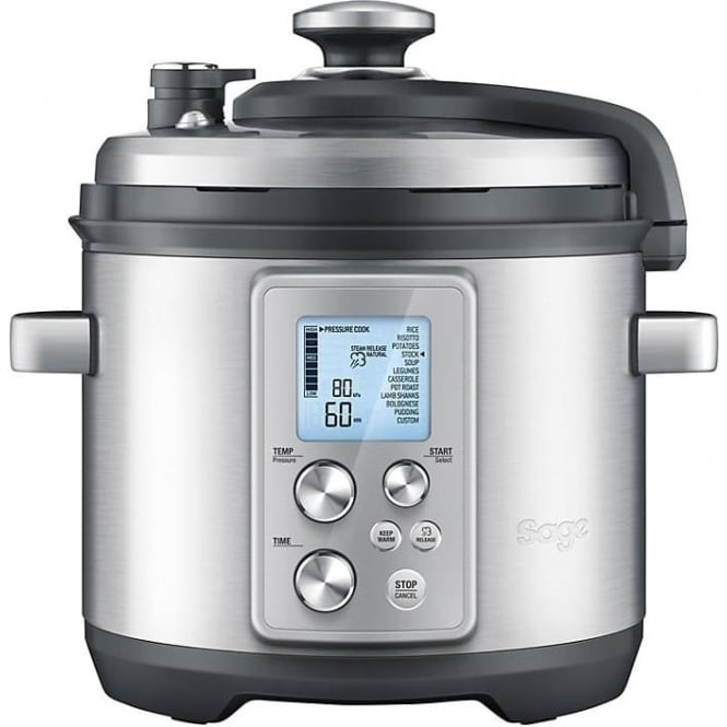 Sage By Heston Blumenthal BPR700BSS The Fast Slow Pro Slow Cooker, Brushed Metal