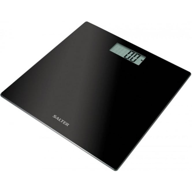 Salter 9069BK3R Ultra Slim Glass Electronic Digital Bathroom Scales, Black