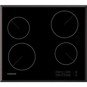 C61R1AAMST 58cm Ceramic Hob, Black / Stainless Steel