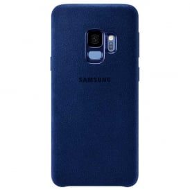 Galaxy S9 Case Cover Alcantara, Blue