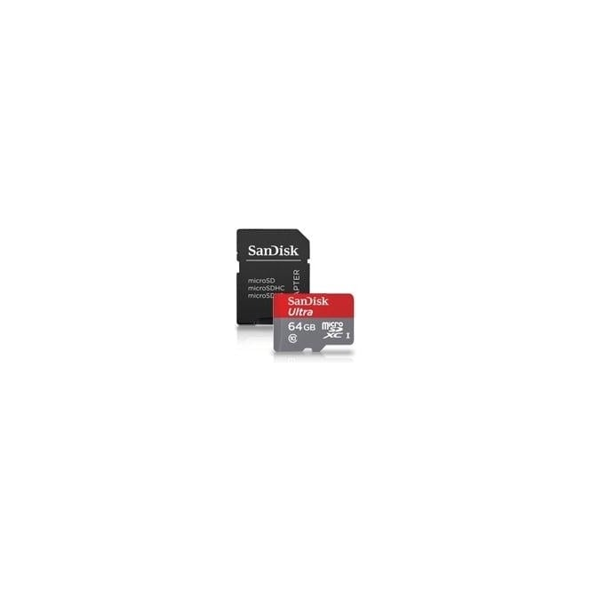 SanDisk 64GB Ultra Micro SDXC, Class 10, UHS-I, 30MB/s