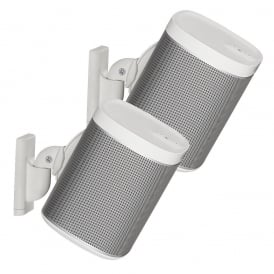 Pair Adjustable Speaker Wall Mount Designed for SONOS PLAY:1 and PLAY:3, White