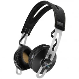 Momentum 2.0 Wireless On-Ear Headphones with Integrated Microphone, Black
