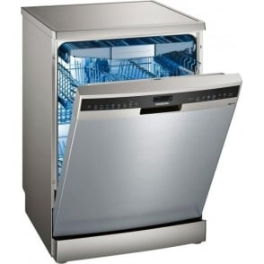 SN258I06TG iQ500 60cm A+++ Freestanding Dishwasher, Silver Inox