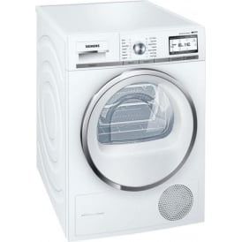 WT4HY790GB iQ700 iSensoric 9kg, A++ Condenser Tumble Dryer with Heat Pump, White