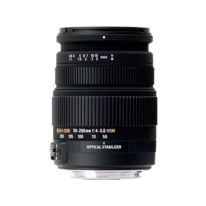 Sigma 50-200mm f4-5.6 DC OS HSM Lens for Digital SLR Cameras with APS C Sensors