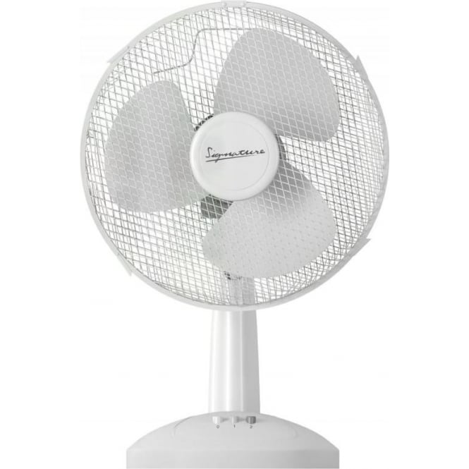 Signature S115N Desk Fan, 9 inch, 30W, White