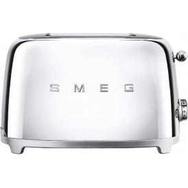 50's Retro Style Aesthetic 2 Slice Toaster, Chrome