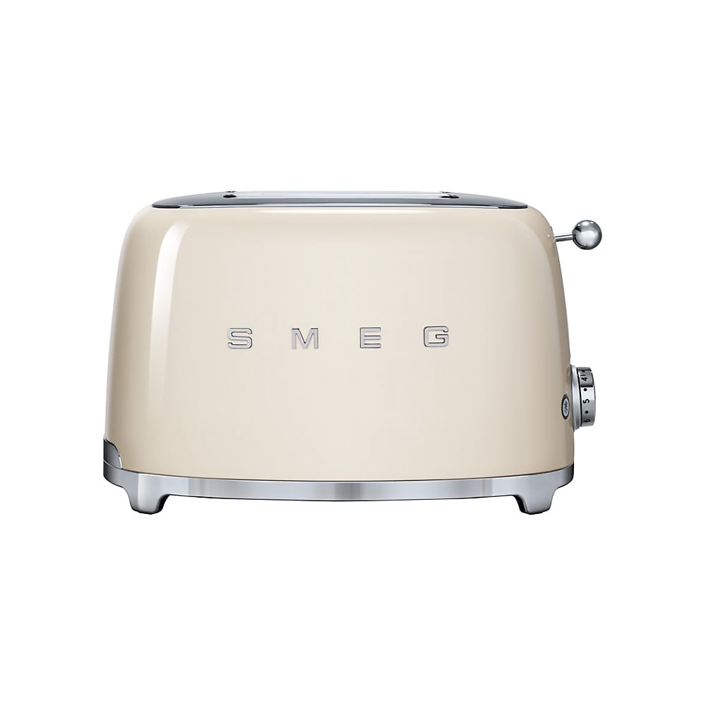 smeg 50 39 s retro style aesthetic 2 slice toaster cream smeg from uk. Black Bedroom Furniture Sets. Home Design Ideas