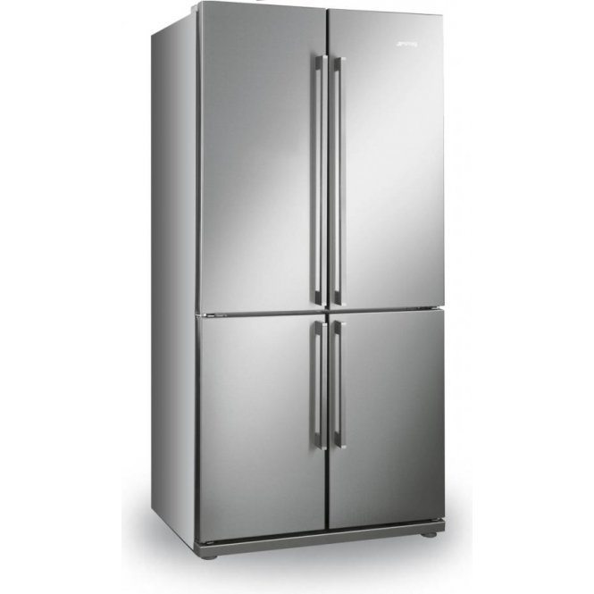 Smeg FQ60XP A+ American Style Fridge Freezer, Stainless Steel