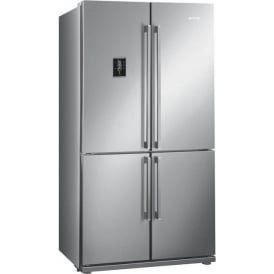 FQ60XPE 92cm Four Door A+ Fridge-Freezer with Convertible Compartment and LCD Touch Display, Stainless Steel