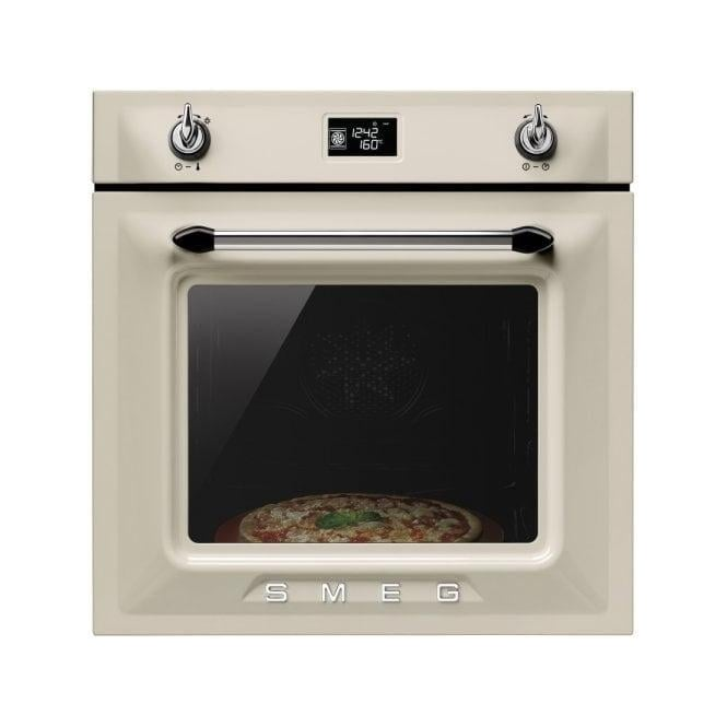 Smeg SFP6925PPZ Victoria Single Oven, Cream
