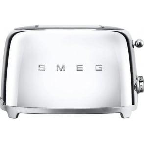 TSF01SSUK 50's Retro Style Aesthetic 2 Slice Toaster, Chrome