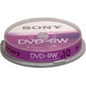 Sony 10DMW47SP - DVD-RW (REWR.) 4X Spindle Pack of 10