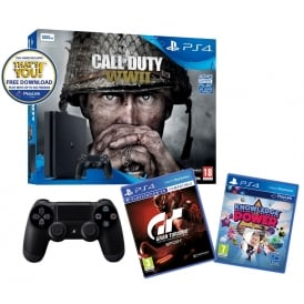 500GB Call of Duty: WWII, Gran Turismo, Knowledge is Power & DualShock 4 Jet Black Controller Bundle