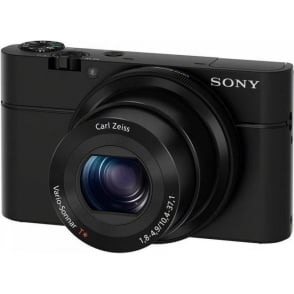 "Sony Cyber-shot DSC-RX100, HD 1080p, 20.2MP, 3.6x Optical Zoom, 3"" LCD Screen, Black"