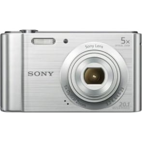 DSCW800S Digital Compact Camera 20.1 MP, 5x Zoom, Silver