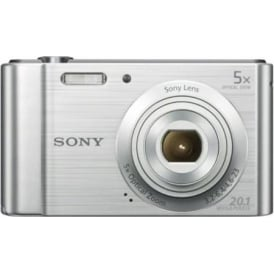 DSCW800S Digital Compact Camera 20.1 MP, 5x Zoom, Silver