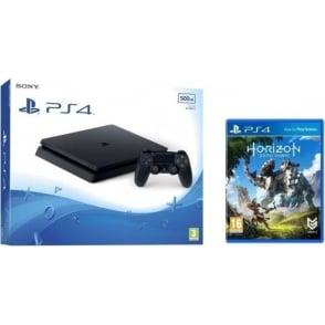 PS4 500GB Black with Horizon Zero Dawn