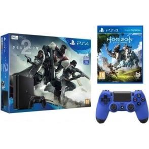 PS4 500GB Destiny 2 with Horizon Zero & Gaming Controller