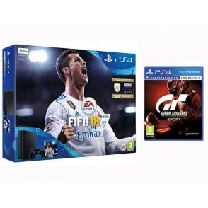 PS4 500GB Fifa 18 + GT Sport Bundle