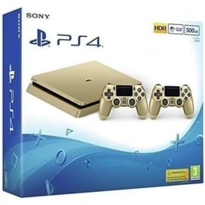 PS4 500GB Slim, Gold Limited Edition