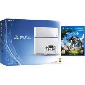 PS4 500GB White with Horizon Zero Dawn