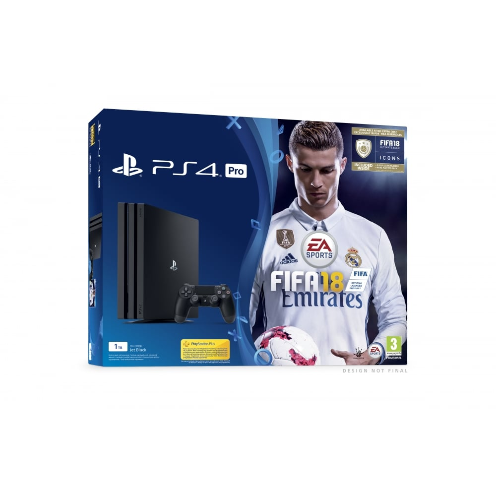 sony ps4 pro 1tb fifa 18 bundle sound vision from. Black Bedroom Furniture Sets. Home Design Ideas