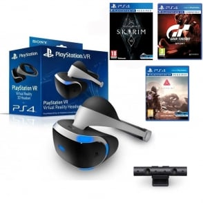 PS4 VR Bundle: Camera, Farpoint, Skyrim, Gran Turismo