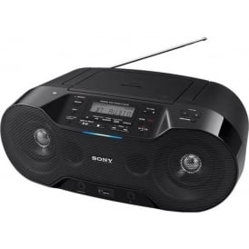 ZS-RS70BTB Wireless DAB Boombox with CD/Bluetooth/NFC/USB Play, Black