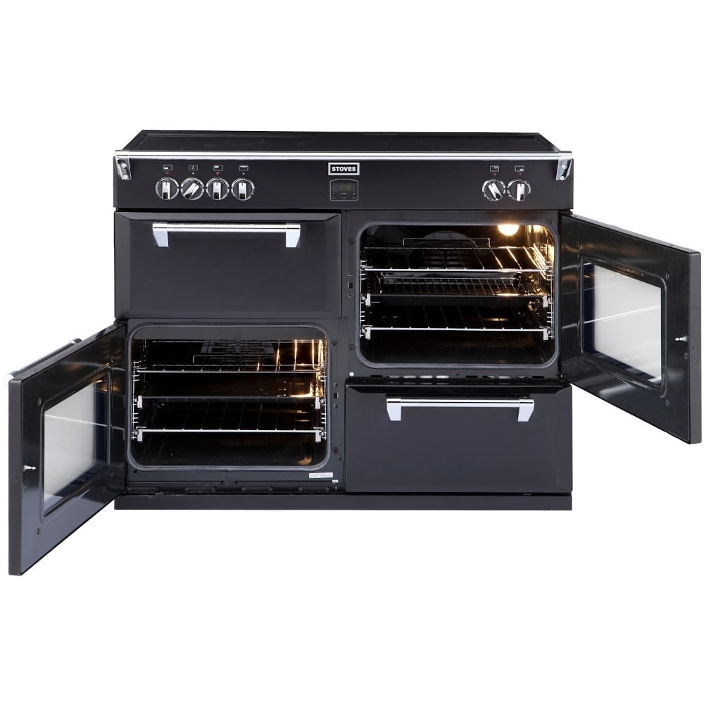 stoves richmond 1000ei 100cm electric induction range cooker black stoves from powerhouse je uk