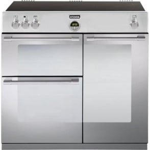 Sterling 900Ei 90cm Electric Induction Range Cooker, Stainless Steel