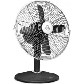 "SFA1010BN Retro Desk 45W 12"" Fan, Black"