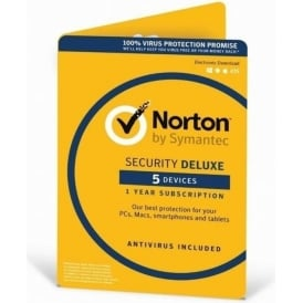 Norton Security Deluxe 3.0 In 1 User 5 Devices Card