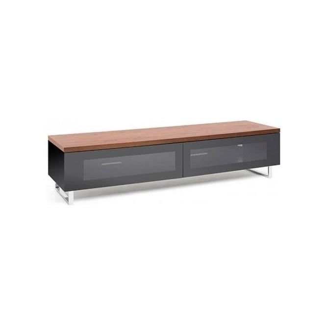 Techlink PM160W Panorama Piano Gloss Black And Walnut Large TV Cabinet